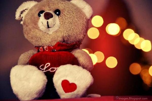Cute Teddy Bear Love Heart