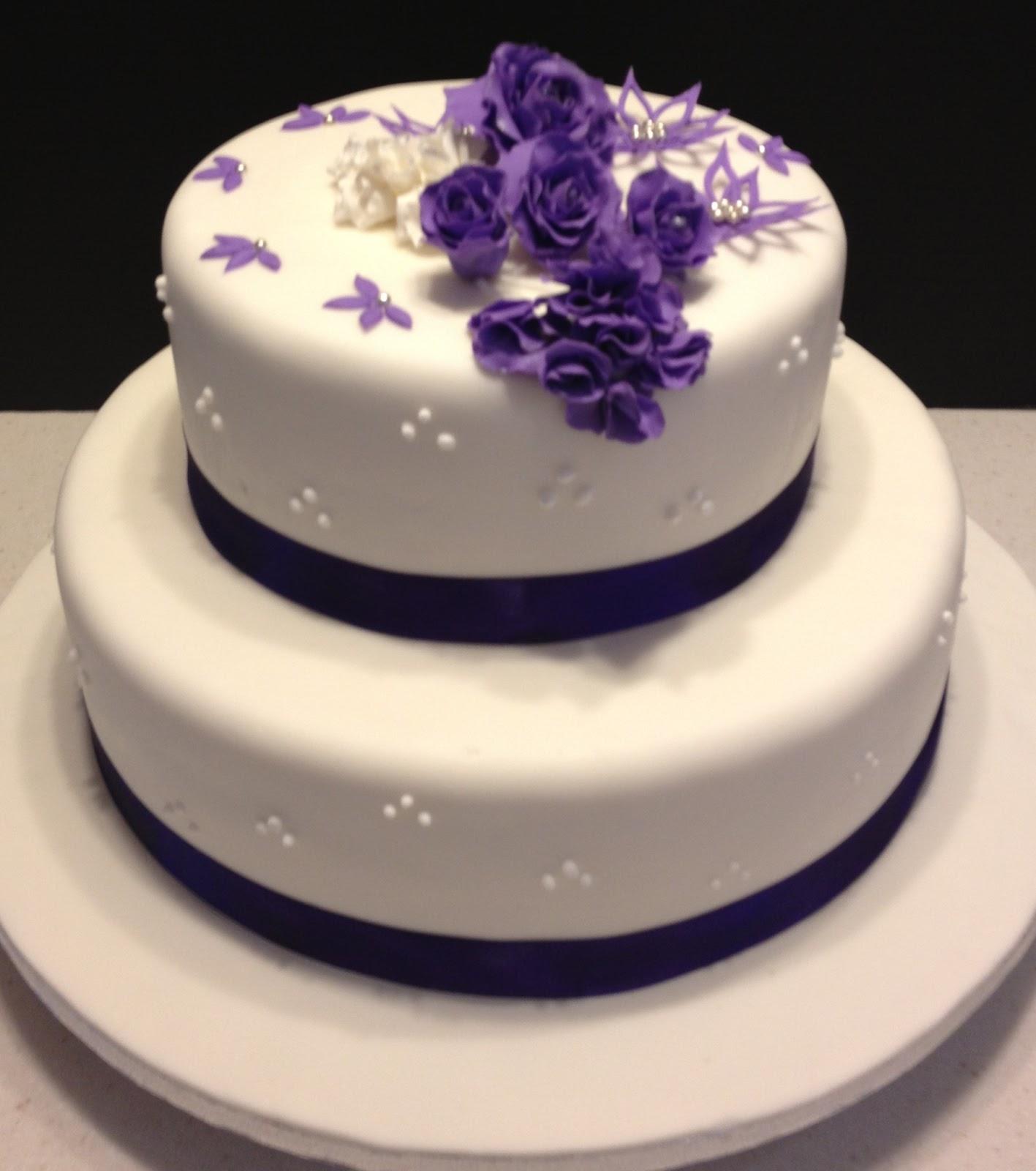 MaryMel Cakes Wedding in purple
