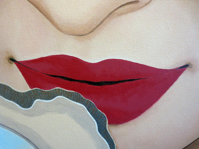lips, how to paint lips, acrylic, acrylic paint, how to paint with acrylics, painting lips with acrylic, pink lips, pout, pouty lips, indian bride, artist, portrait, portrait artist, toronto portrait artist, malinda prudhomme, sikh bride