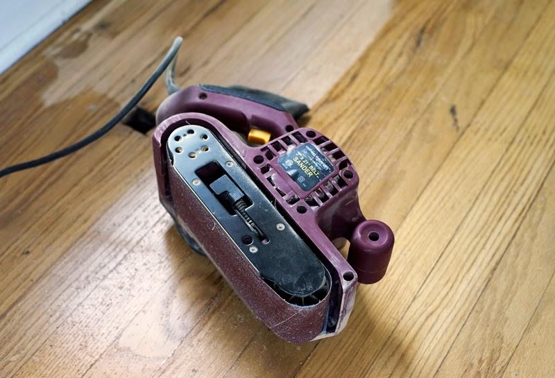 Floor Stain Repair with Belt Sander