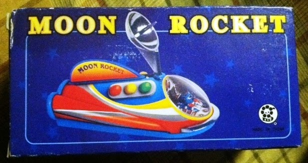 Moon Rocket Vintage Toy from Stoner Living