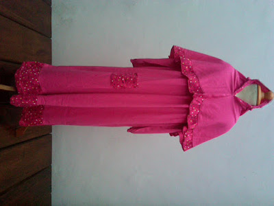 Desain Gamis Anak SD Warna Pink
