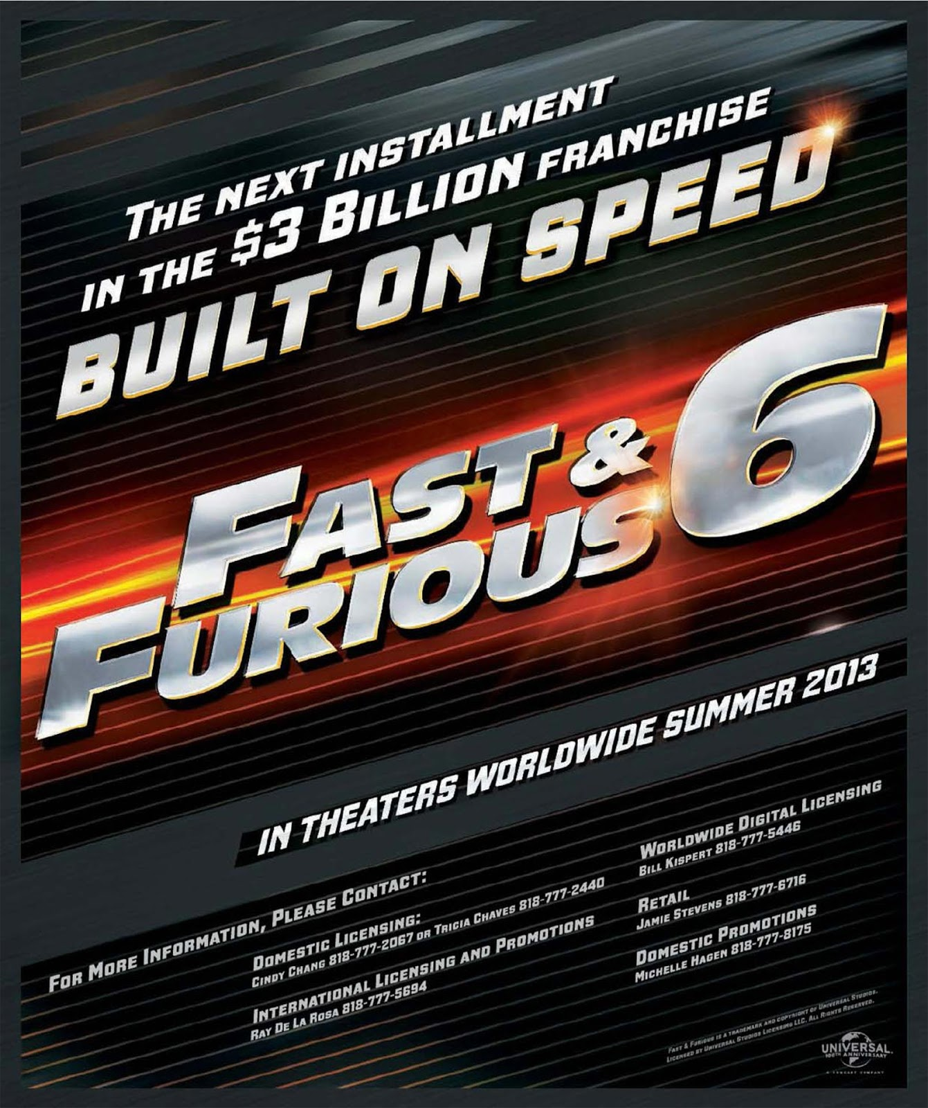 Wallpaper Backgrounds: Fast and Furious 6 official Movie ...