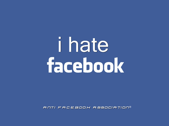 I Hate Facebook Wallpaper