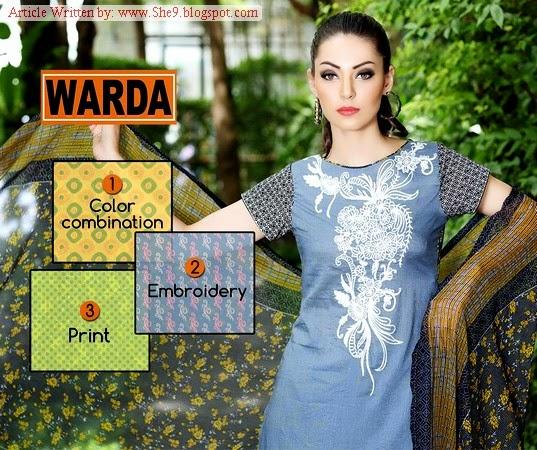 Warda-Prints Midsummer / Eid ul Azha Dresses
