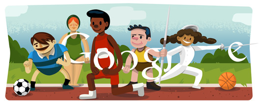 google doodles - olympics opening ceremony 2012