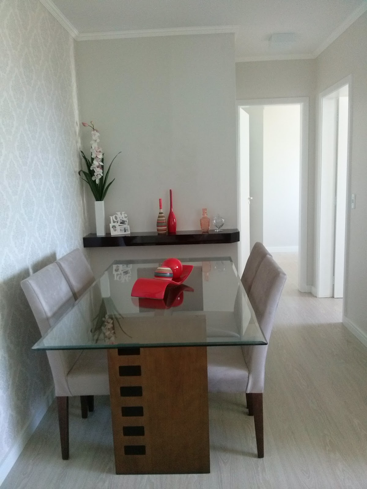 Artesanato Luminaria ~ O Nosso Primeiro Apartamento Nossa Mesa de Jantar
