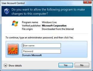 uac authorization windows 7