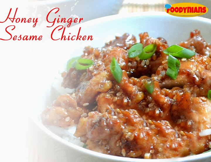 Quick chicken recipe-honey-ginger-sesame chicken
