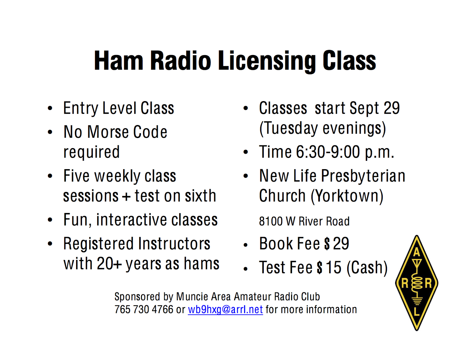 Muncie area amateur radio club tech license class coming up tech license class coming up xflitez Image collections