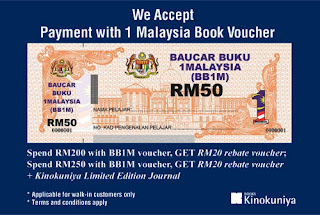Kinokuniya Books 1 Malaysia Book Vouchers (BB1M) Deal