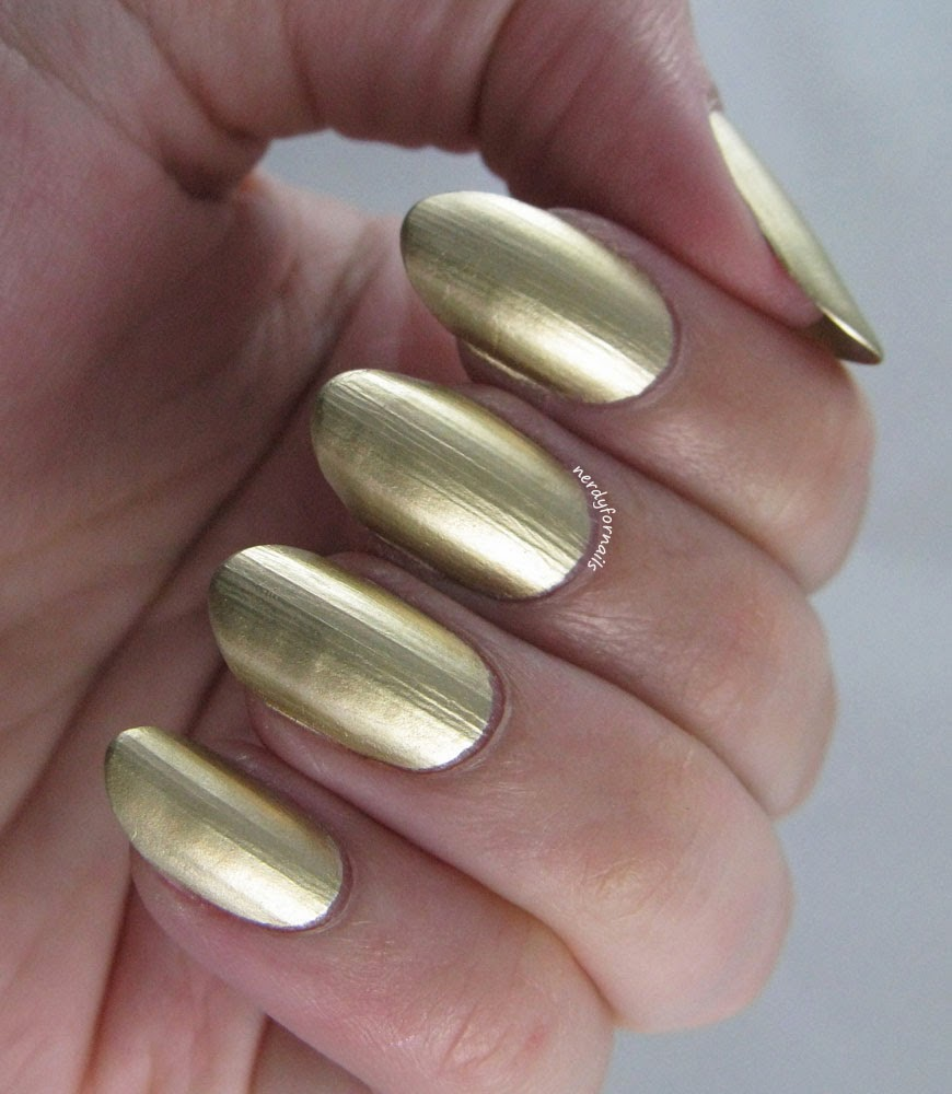 Sally Hansen Color Foil Liquid Gold Swatch