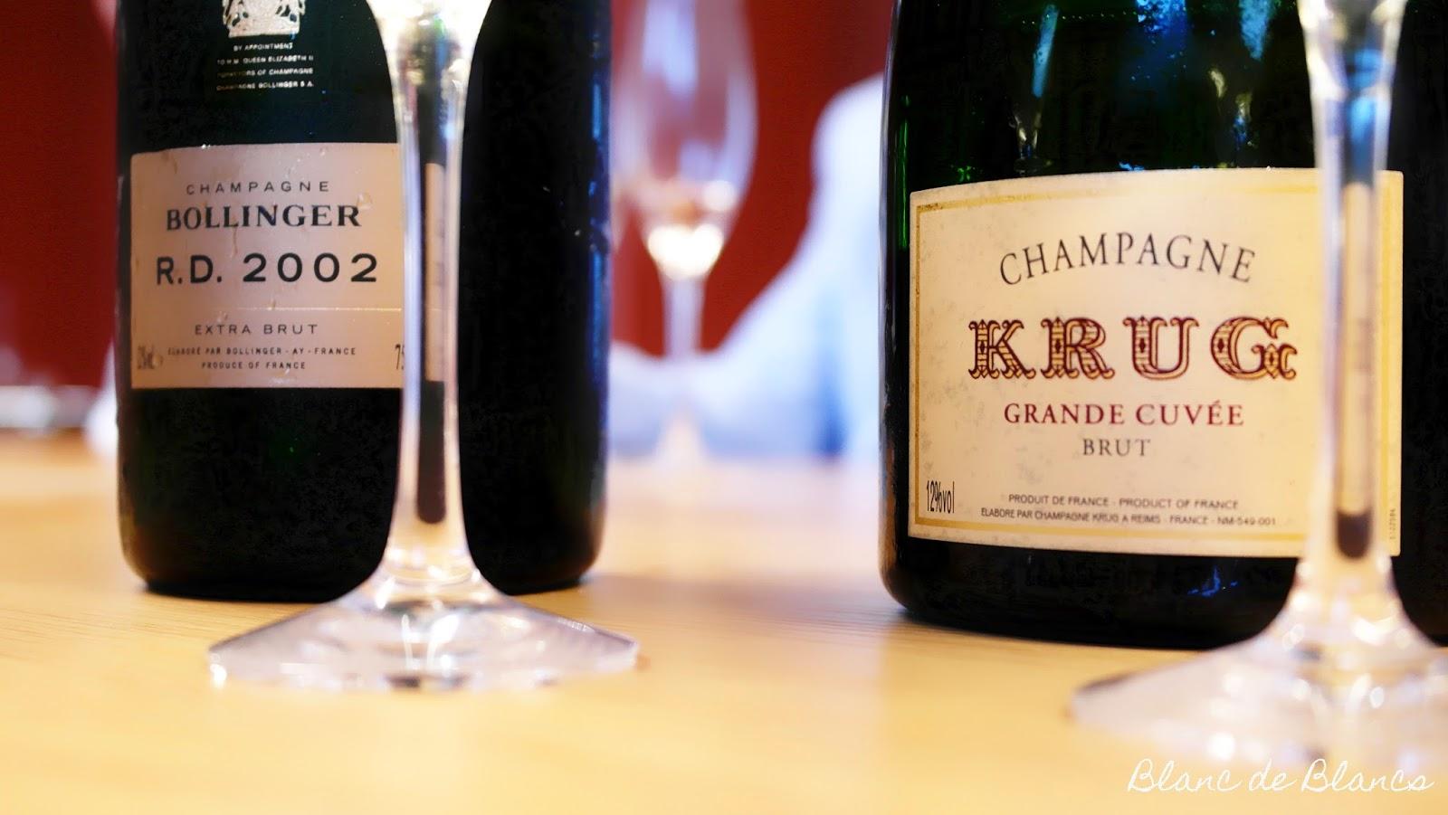 Champagne battle: Bollinger R.D. 2002 vs. Krug Grande Cuvée - www.blancdeblancs.fi
