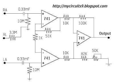e electroessence ecg circuit rh electroessence blogspot com Epic ECG Schematic Plessey Epic ECG Schematic