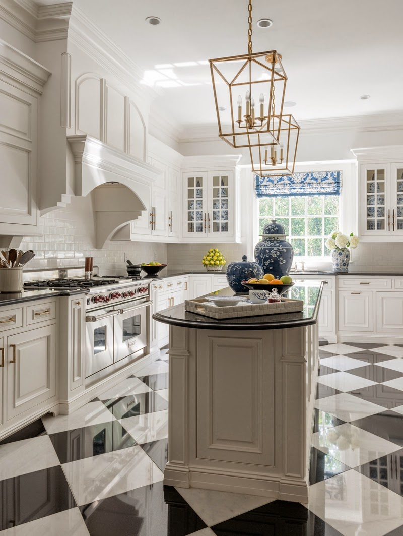 The glam pad a palm beach regency style home for Beautiful kitchen designs with white cabinets