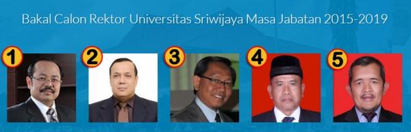 Bakal Calon Rektor tahun 2015-2019