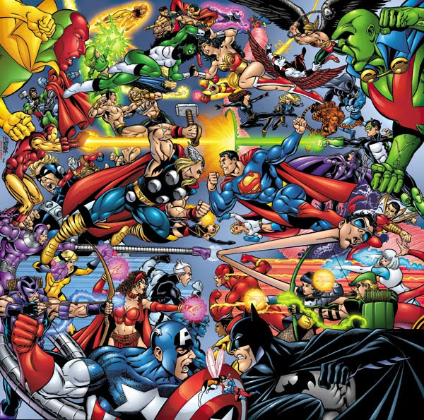 marvel vs dc amalgam comics batman superman spider-man captain america iron man green lantern