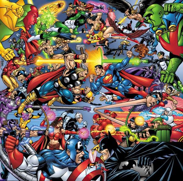marvel vs dc amalgam comics batman superman spider man captain america iron man green lantern batman iron man fanboy