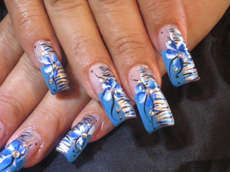 ACRYLIC NAILS: Nail Art on Acrylic Nail Tips - ACRYLIC NAILS