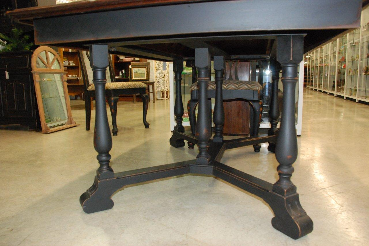 antique black dining table collections