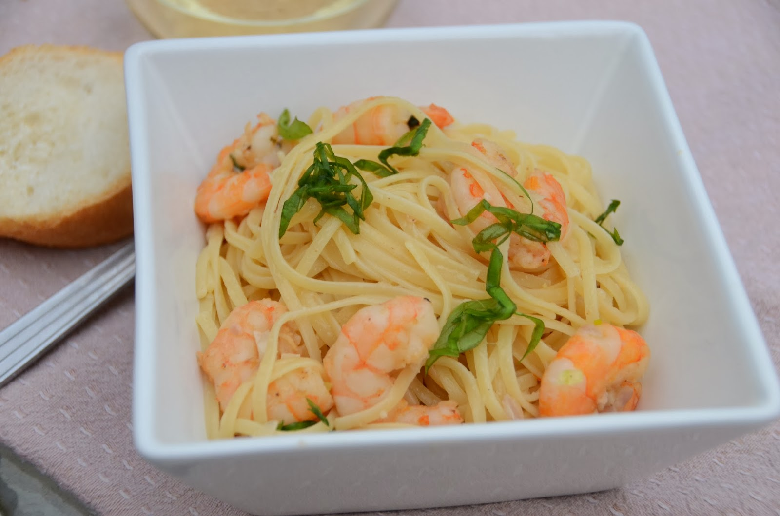 Quick Shrimp Scampi title=