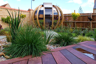 modern family garden, Cambourne Cambridge
