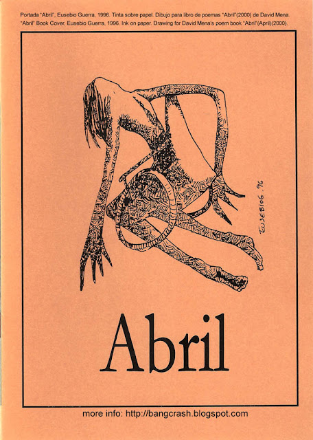 Abril, Cover book, Eusebio Guerra, 1996, ink on paper