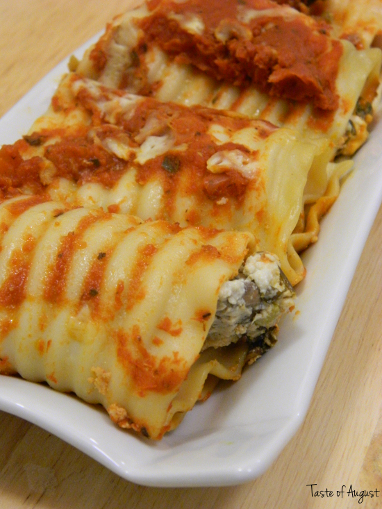 Spinach and Cheese Lasagna Roll Ups