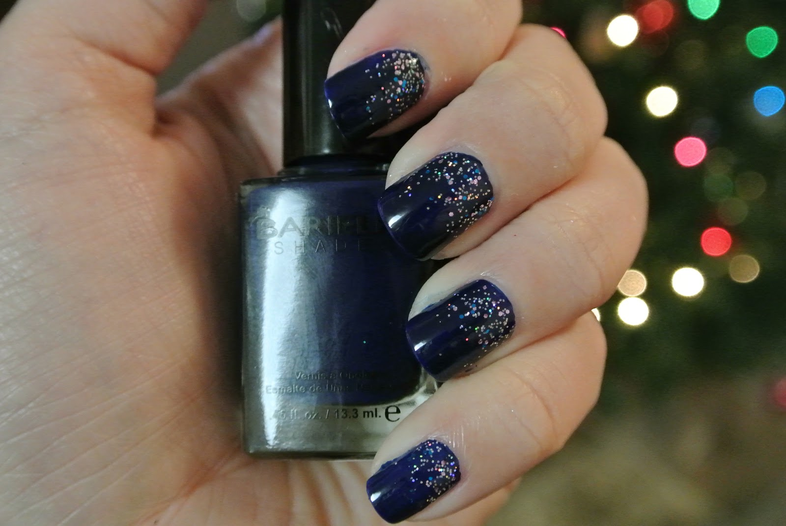 Gradient glitter nails for New Years | Deena Does It