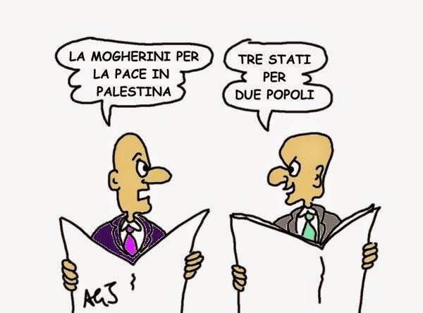 palestina, Mogherini, satira