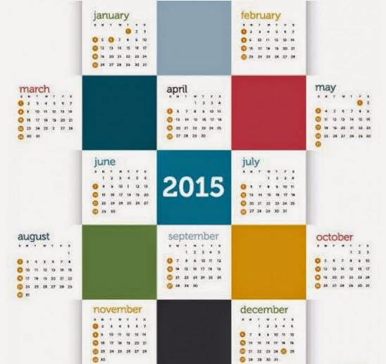 Calendar 2015, square style