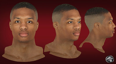 NBA 2K13 Damian Lillard Cyberface Patch