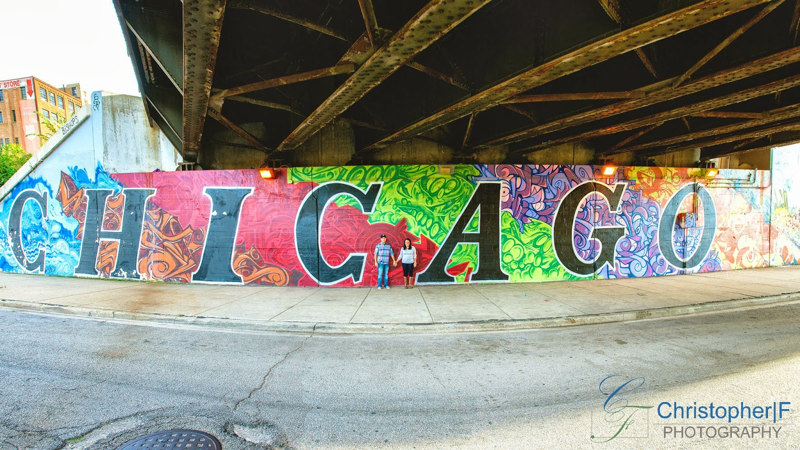 Chicago Skyline Graffiti