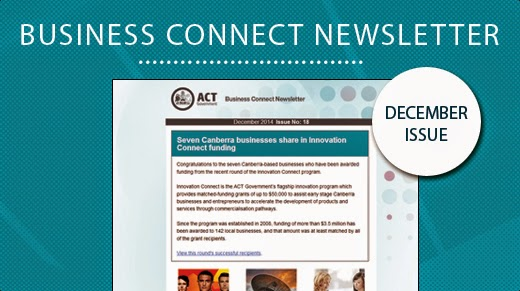 Screen shot of the December newsletter