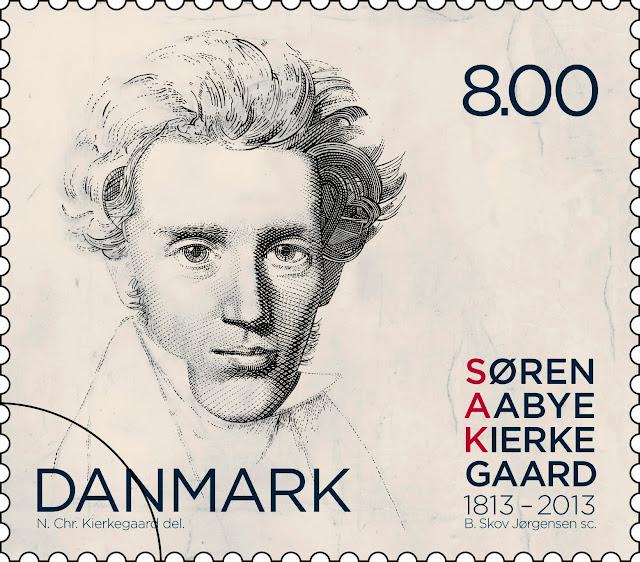 Søren Aabye Kierkegaard 1813-2013 - Dansk frimærke fra 2013