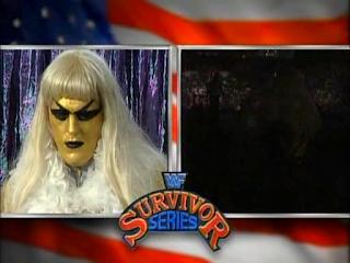WWF / WWE SURVIVOR SERIES 95 - Goldust cuts a pre-match promo before facing Bam Bam Bigelow