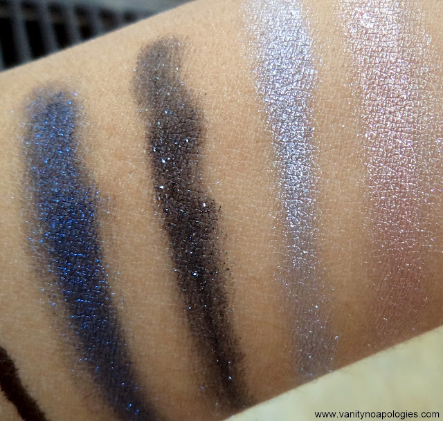 L'Oreal Paris L'OR Electric eye shadows swatches