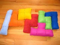 Декоративная подушка для любителей тетриса