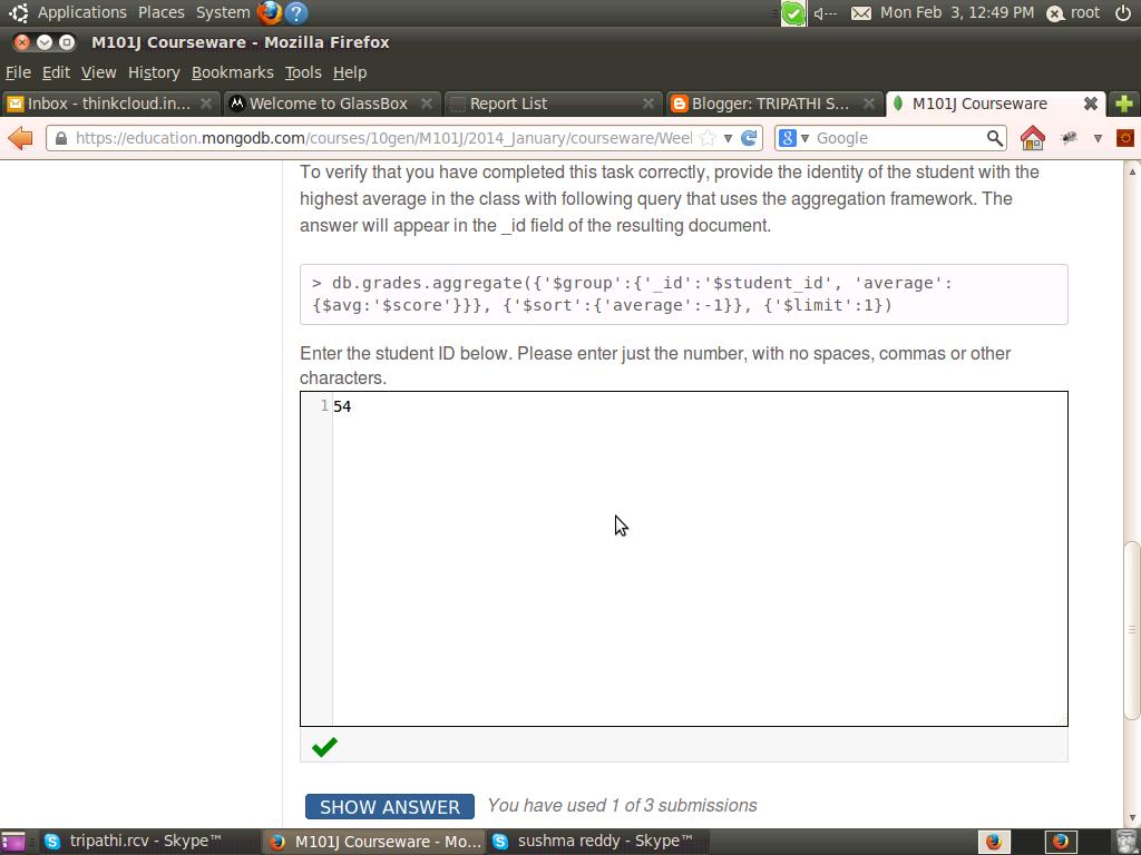 M101j homework 6 grade