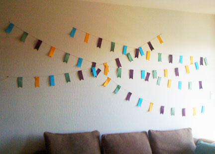 Savvy Vegan: Decorating on a Dime: Ribbon Wall Art