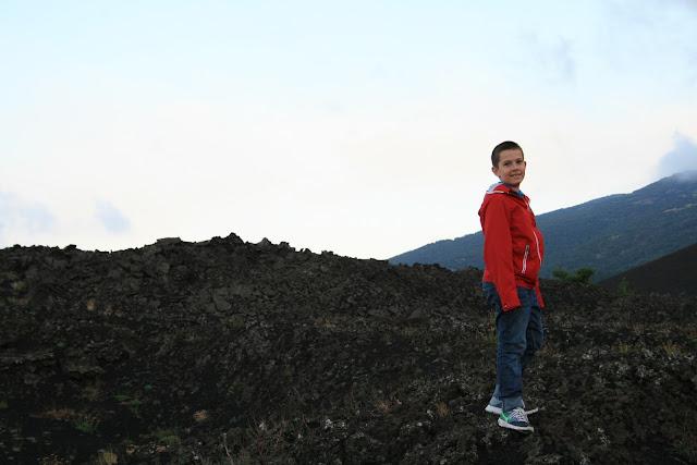 my child on Etna, Sicily