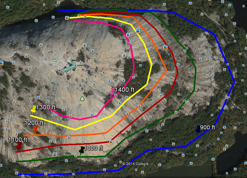 Stone Mountain Elevation Map : Jeff law s environmental science
