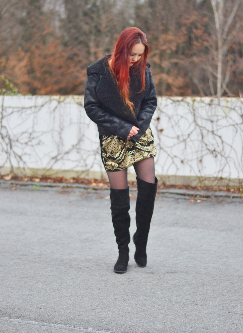 Silvester_Outfit_goldene_Pailletten_kleid