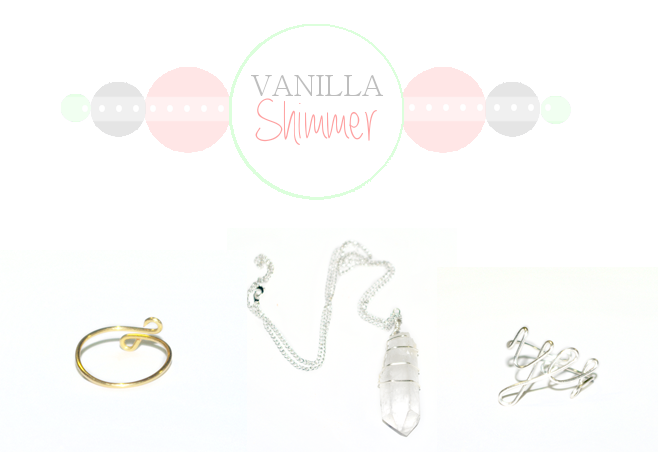 Vanila Shimmer, shop handmade jewellery, hair accessories and dog bows.