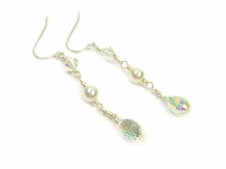 crystal drop earrings wedding