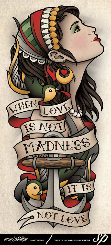 Sams blog august 2012 for Sailor jerry gypsy tattoo