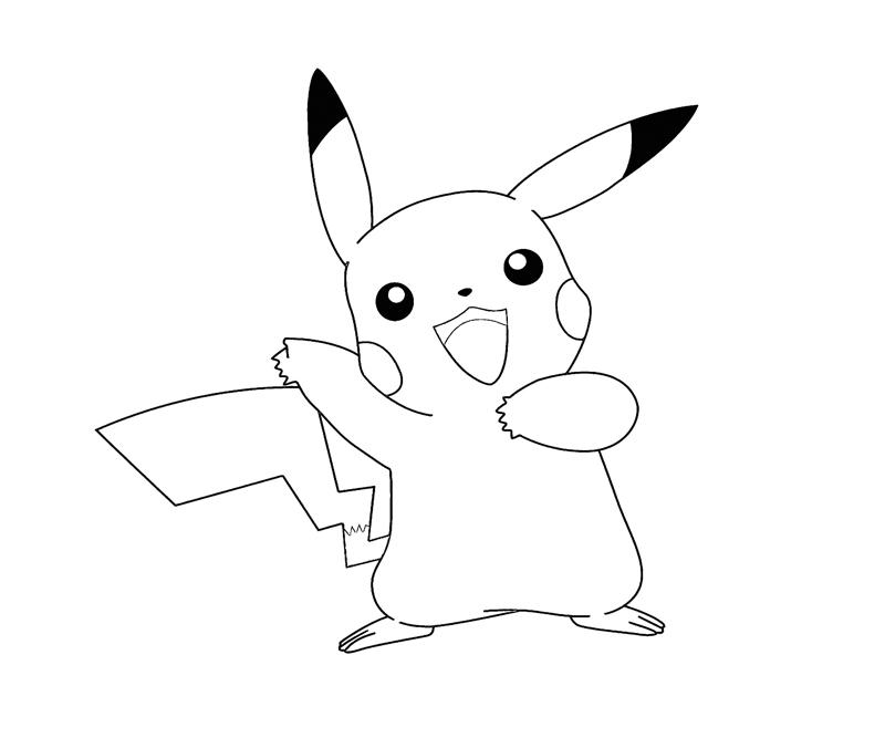 Pikachu 3 coloring crafty teenager for Pikachu coloring page