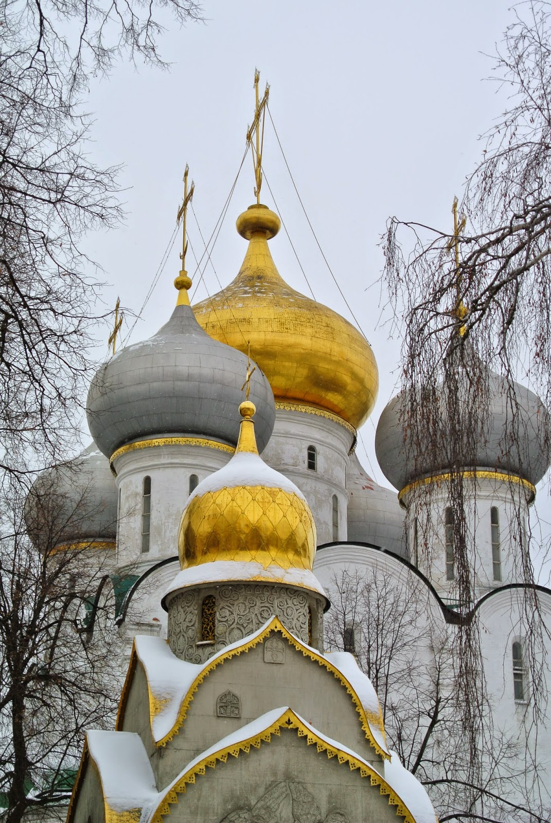 Church domes at Novodevichy convent