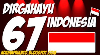 DIRGAHAYU KE 67 INDONESIA