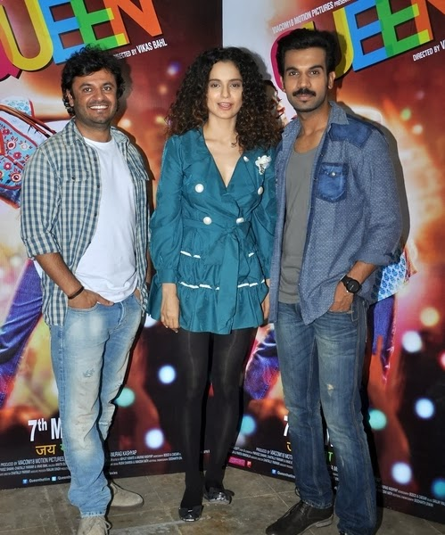 Kangana Ranaut on promotion of Queen at Mehboob Studio, Mumbai